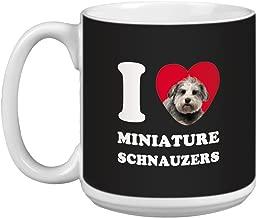 Tree Free Greetings XM29089 I Heart Miniature Schnauzers Artful Jumbo Mug, 20-Ounce, Grey Close-Up