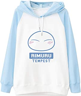Lifestar Anime That Time I Got Reincarnated as a Slime Rimuru Tempest Costume Thin Hoodie for Girl Blue and White