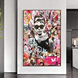 WTYBGDAN Abstrakte Pop-Graffiti-Kunst Audrey Hepburn