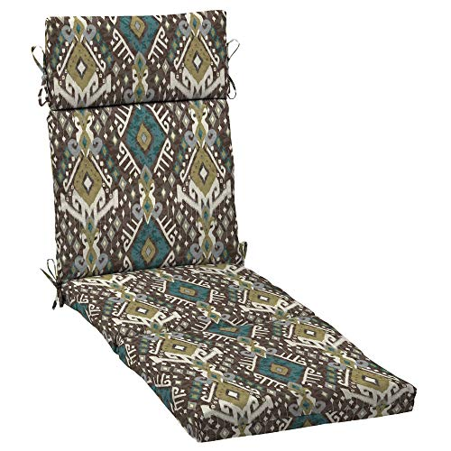 MISC Outdoor Cartridge Chaise Cushion Brown Ikat Southwestern Polyester Uv Resistant