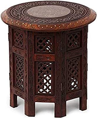 DECORVAIZ Art Nice Collection Wooden Stool (Brown)
