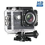 MixMart 1080P Action Kamera WIFI Sports Cam Kamera Ultra Full HD Wasserdichte Helmkamera mit 2...