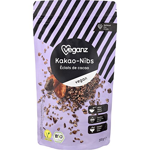 Veganz BIO Kakao-Nibs, 2er Pack (2 x 200 g)