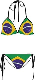 ADEDIY Fashion Custom Brazil Flag Summer Beach Sexy Women's Swimsuit