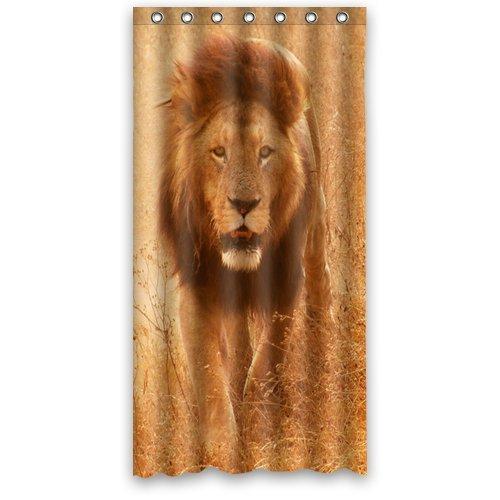 Doubee Custom Löwe Wasserdicht Polyester Duschvorhang Shower Curtain 36