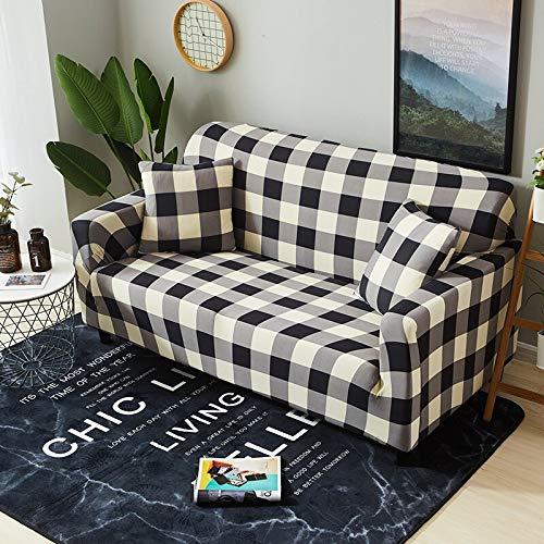 ASCV Funda de sofá elástica Estampada geométrica elástica para Sala de Estar Funda seccional Protector de Muebles de sofá A3 4 plazas