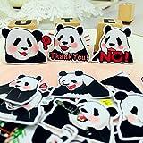 BLOUR 40 Stück Süße Panda-Aufkleber für Kinder Selbstgemachte Buchaufkleber auf...