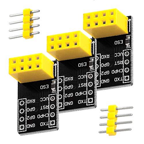 AZDelivery 3 x ESP8266-01 Breadboard Adattatore per Arduino e Raspberry Pi con eBook
