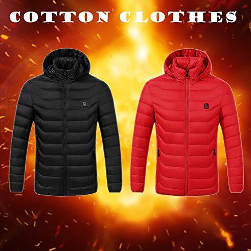 Fancylande für Damen und Herren, wärmeisolierend, wärmebeheizt, mit Kapuze Top Capispalla Material Polyester Winter warm Clever XL rot