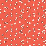 Baumwollstoff Dreiecke Orange Webware Meterware Popeline