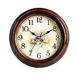NYKK Orologio da Parete Orologio da Parete Rotondo Europeo Orologio da Parete con Movimento al Quarzo Silenzioso Muto Orologio da Muro (Design : A)