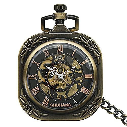 Reloj de bolsillo digital a escala automática mecánico cuadrado reloj de bolsillo digital