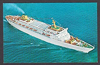 Home Lines SS Oceanic Ship of Tomorrow postcard 1960s