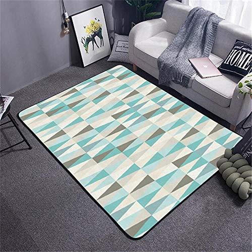 WQ-BBB Llprueba De Polvo El Dormitorios La Alfombrer Diseño geométrico triángulo pequeño minimalismo Pelo Corto Moqueta Gris Blanco Azul Moderna Alfombra 40X120cm
