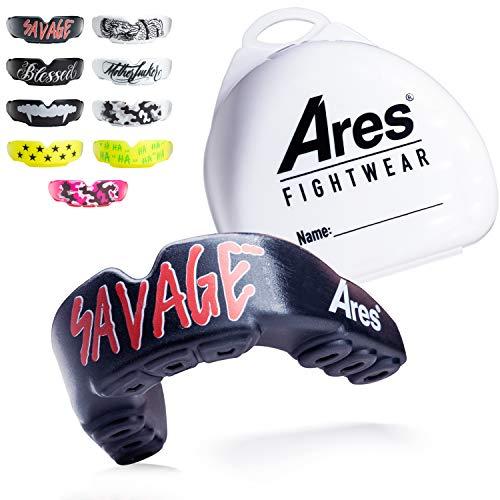 Ares Fightwear® Mundschutz Boxen inkl. Aufbewahrungsbox für Kampfsport, MMA & Athleten I Maximaler Zahnschutz Dank Optimaler Passform I Profi Mouthguard für Herren & Damen