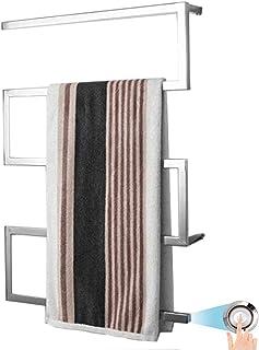 MIJOGO Radiador Toallero Electrico Bajo Consumo Cromado y con una Potencia de 65W · Secatoallas Electrico con ON/Off · (Medidas de 800 x 600 mm),Hardwired