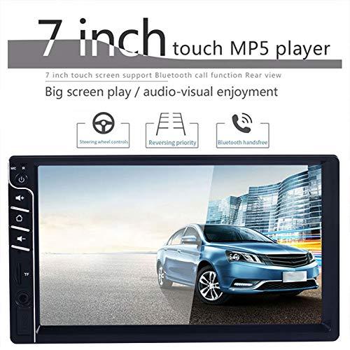 Reproductor MP5 para automóvil,doble Din,audio y llamadas Bluetooth,monitor con pantalla táctil LCD de 7 pulgadas,reproductor de MP3,receptor de radio FM,control remoto inalámbrico,control del volante