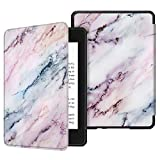 Fintie Slimshell Case for All-New Kindle Paperwhite (10th Generation, 2018 Release) - Premium Lightweight PU Leather Cover with Auto Sleep/Wake for Amazon Kindle Paperwhite E-Reader, Marble Pink