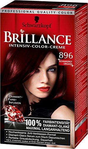 Schwarzkopf Brillance Intensiv Lot de 3 colorations crèmes 896 Noir rouge
