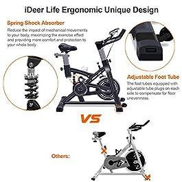 IDEER LIFE Exercise Bike Stationary Indoor Cycling Bike, Hea...