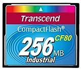 Transcend 80x - Scheda di memoria CompactFlash Card 256MB CompactFlash (CF), 1000000h, 3.3/5V, 0-70°C, -25-85 °C