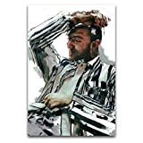 ZSBoBo Gestreifter Anzug Sam Smith Poster, dekoratives