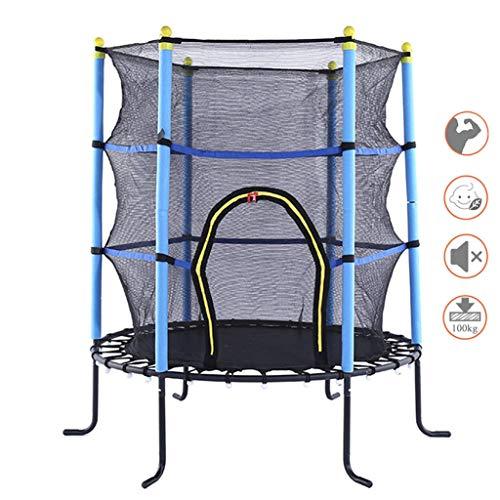 LXXTI Mini Trampoline for Kids, 55' Trampoline with Safety Net Enclosure, Indoor Outdoor Children's Activity Junior Trampoline, Weight Capacity 100Kg