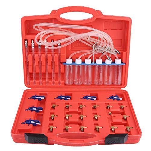 Compteur de Débit d'Injecteur Diesel Cylindre de Diagnostic Kit de Test de Conduite de Carburant pour Adaptateur de Rampe Commune avec Boîte de Rangement