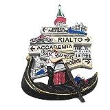 Imán para nevera 3D de Venecia Italia recuerdo de recuerdo para el hogar y la cocina de Venecia Italia imán de la colección
