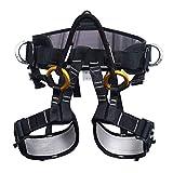 ENJOHOS Arnés de Escalada, Arnés de guía, Cinturones de Seguridad para montañismo de Alto Nivel Espeleología de Rescate Recordatorio de Escalada Equipar Medio Cuerpo