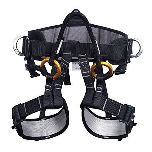 ENJOHOS Klettergurt Sicherheitsgurt Mehrzweck Taille Hüfte Schutz Gürtel für Bergsteigen Baumklettern Absturzsicherung Outdoor