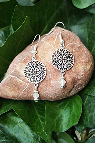 Pendientes con el símbolo del Mandala, Regalo mujer, Estilo Boho Chic, Pendientes yoga, espirituales, Amuleto. Geometría sagrada