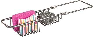 mDesign porte éponge en aluminium – rangement pour évier pour garder éponge, brosse, etc. – accessoire de cuisine extensib...