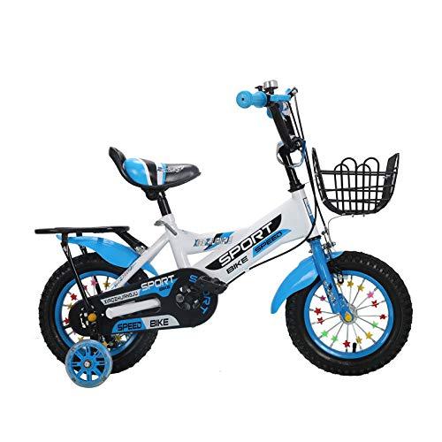 WANG-L Bicicletas De Montaña para Niños 12/14/16/18/20 Pulgadas Ruedas De Entrenamiento De Refuerzo Antivuelco para Niños Hombres Y Mujeres,Blue-18inch