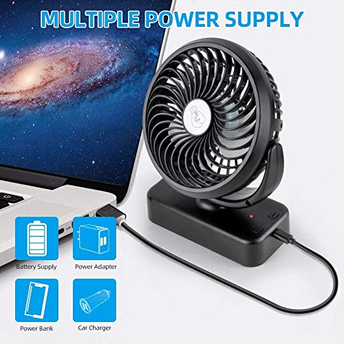 519XKc8+KYL - Amacool Portable Battery Camping Fan with LED Lantern - Rechargeable 5000mAh Battery Operated USB Desk Fan Kit with Hanging Hook for Tent Car RV Hurricane Emergency Outages