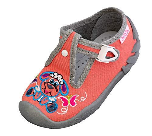 ARS Botas para Niñas Zapatillas Estar por casa per Nina Zapatos Bebe Niña Plantilla de Cuero Primeros Pasos 20 21 22 23 24 25 (Ovejas Rosas, Numeric_22)