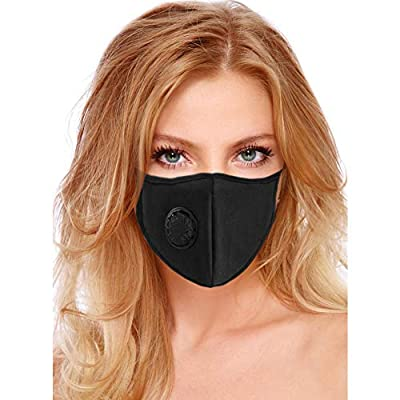 Air Pollution Mask Filter Washable and Reusable Anti-Pollution Dust Mask With Filter Valve Masks Respirator For Allergies Flu Pollen Smoke - PM2.5 N95 Protection by BeatBasic