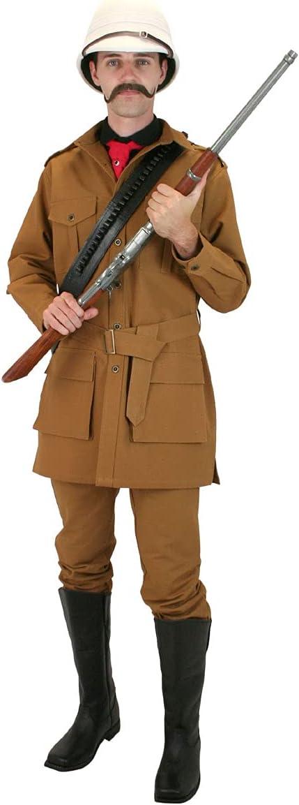 Victorian Mens Suits & Coats Historical Emporium Mens 100% Cotton Canvas Safari Bush Jacket  AT vintagedancer.com