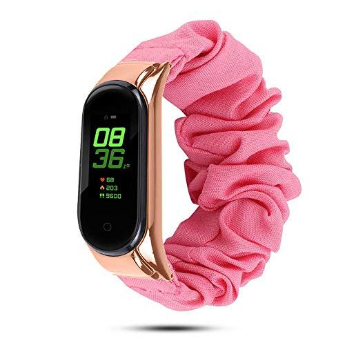 Correa de repuesto para Xiaomi Mi Band 3/4/5, ajustable Smartwatch pulsera xiaomi correa, correa elástica inteligente pulsera banda