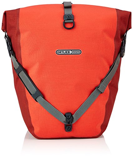 Ortlieb Erwachsene Gepäckträgertasche Back-Roller Plus QL2.1 Paar Radtaschen Travel, signalrot-chili 2x 20 l, One Size