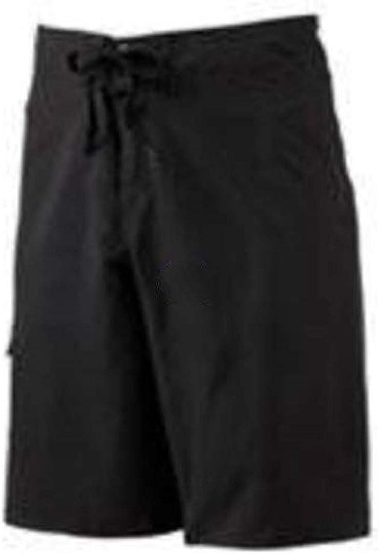 Hang Ten Mens Solid Black Cargo Pocket Swim Board Shorts-Size 30