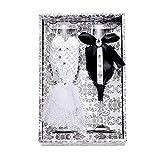 XKMY Copa de vino tinto Boda Vino Champagne Copas Set Novia Y Novio Negro Blanco Vestido Decorativo Tazas