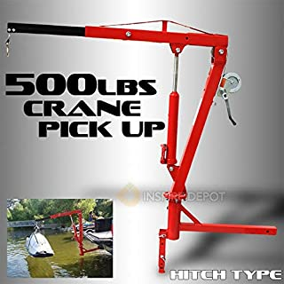 XtremepowerUS 500Lb Pickup Truck Hydraulic PWC Dock Jib Engine Hoist Crane Hitch Mount Lift 2