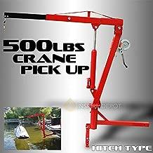 XtremepowerUS 500Lb Pickup Truck Hydraulic PWC Dock Jib Engine Hoist Crane Hitch Mount Lift 2