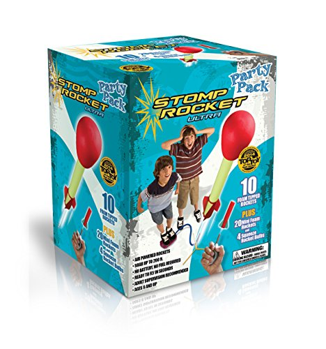 Stomp Rocket Ultra Rocket Party Pack, 30 Rocket Combo - Great Outdoor Rocket Toy Gift for Boys and Girls Ages 6 (7, 8, 9) Years and Up - Comes with Toy Rocket Launcher and Rockets