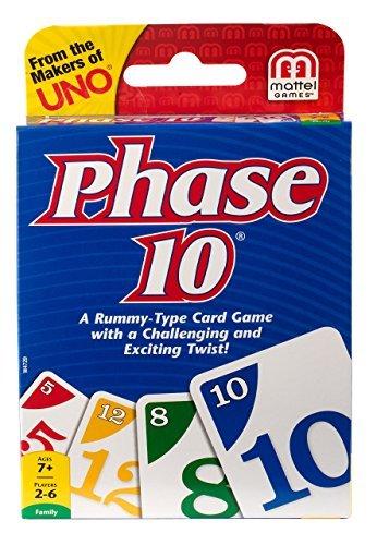 Phase 10 Card Game - Quantity 12 - Mattel W4729