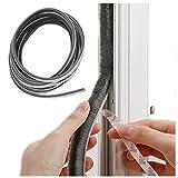 Weather Stripping Brush for Sliding Windows/Doors Frame Side,Pile Self Adhesive Weatherstrip Seal Strip Sealer Draft Stoppers (16.5ft(5m), Grey)
