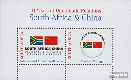Zuid-Afrika Mi.-Aantal.: Block 114 (compleet.Kwestie.) 2008 Diplomatieke Relatie (Postzegels voor verzamelaars) Olympische spelen