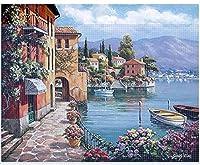 DIYダイヤモンドペインティングロマンチックな美しい港の風景写真リビングルーム寝室家の壁の装飾40 * 30