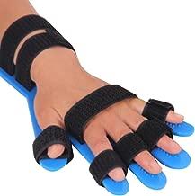 genmine Finger Splint Fingerboard Finger Separator Orthotics Points Hand Wrist Training Orthosis Device Brace Support Flex Spasm Extension Board Splint Apoplexy Hemiplegia Right Left Men Women